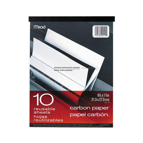 "Mead Carbon Paper Tablet - 8.50"" X 11"" - 1 / Each - Black (MEA40112)"