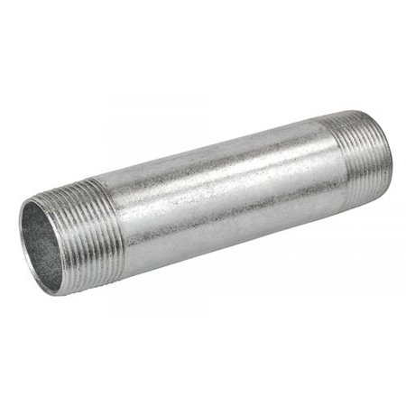 1 Pc, 6 In. Long 2 In. Galvanized Rigid Conduit Pipe Nipple, Zinc Plated Steel to Connect Fixtures to Electrical Boxes &