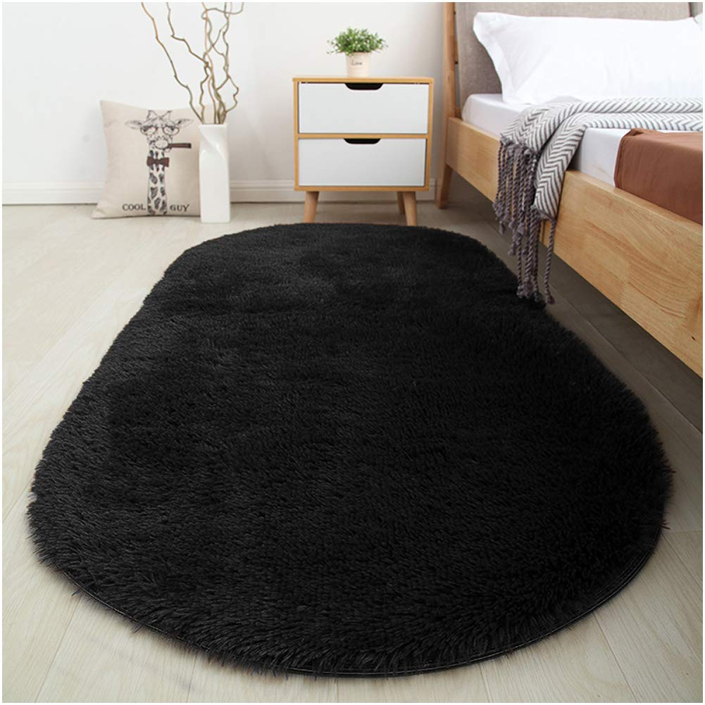 softlife fluffy area rugs for bedroom 26' x 53' oval