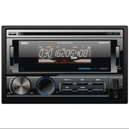 "Boss Mechless Bv6824b Car Dvd Player - 6.2"" Touchscreen Lcd - 320 W Rms - Double Din - Dvd Video - Am, Fm - Secure Digital [sd], Multimediacard [mmc] - Bluetooth - Auxiliary Inputipod/iphone (bv6824b)"