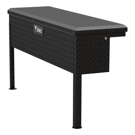 UWS TBSM-48-LP-MB Side Mount Series Single Lid Tool Box; L 48 in. x W 11.25 in. x H 11 in.; Low Profile; Matte Black Powder Coat Aluminum; Mounting Hardware Not