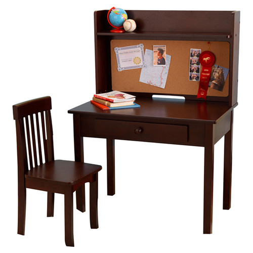 KidKraft Pinboard 3 Piece 31'' Writing Desk and Hutch Set