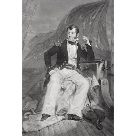 Oliver Hazard Perry 1785-1819 American Naval Officer In War Of 1812 Victor Against British In Battle Of Lake Erie From Painting By Alonzo Chappel Canvas Art - Ken Welsh  Design Pics (24 x (Star Wars Battle 5 Piece Canvas Painting)