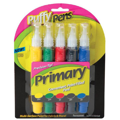 Puffy Paint Primary Pen, 5pk
