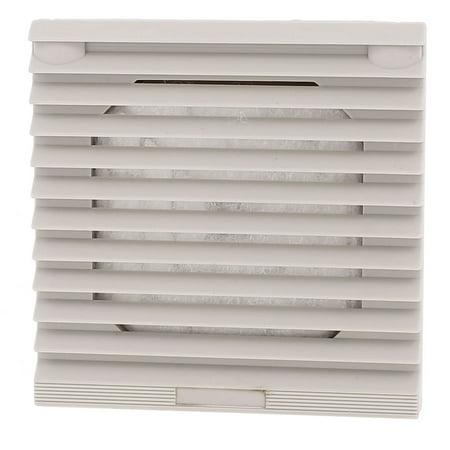 106mm x 106mm Gray Plastic Cabinet Washable Axial Flow Fan Foam Dust (Axial Flow Fan Blade)