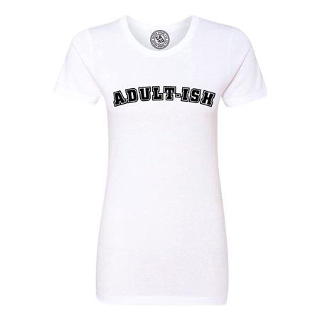 0d6774224 Custom Apparel R Us - Adultish Shirt Adulting Funny Sarcastic Womens Short  Sleeve T-Shirt - Walmart.com