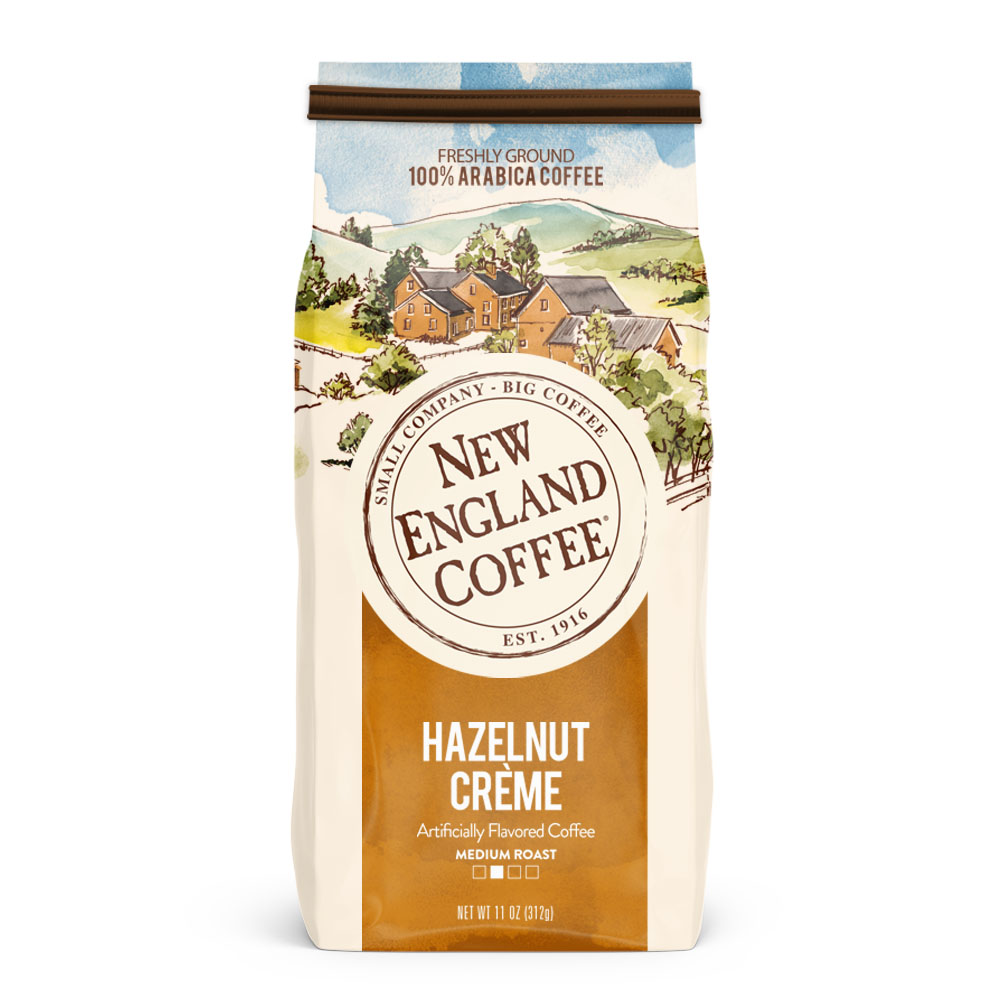 New England Coffee Hazelnut Creme, 22 Oz.