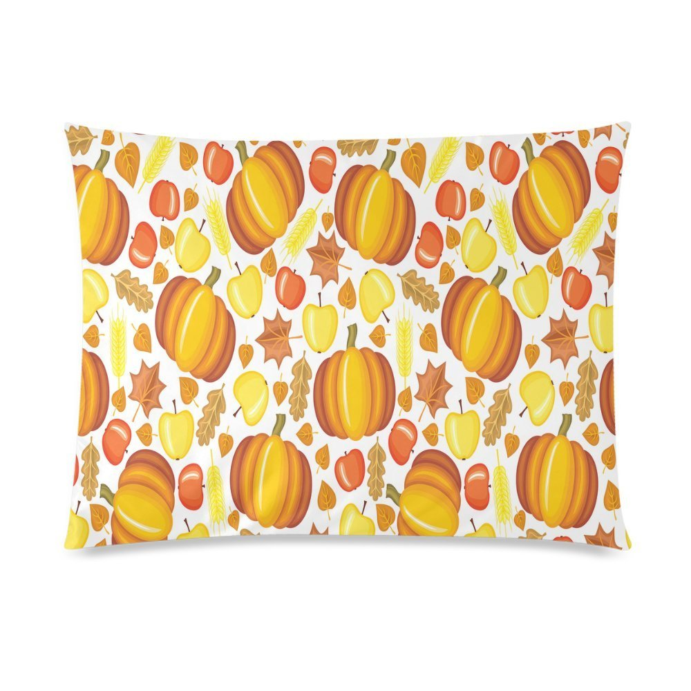 ZKGK Thanksgiving Fall Harvest Pumpkin Home Decor Pillowcase 20 x 30 Inches,Yellow Fruit... by ZKGK