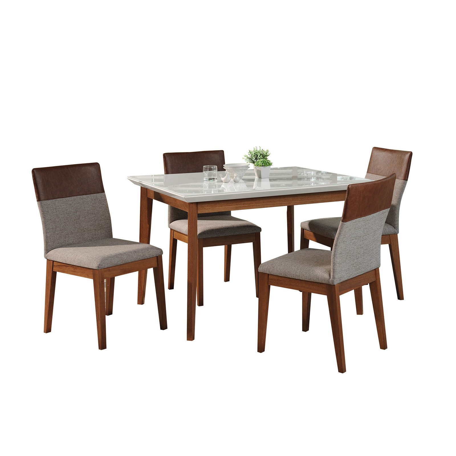 Manhattan Comfort Lillian and Duke 5 Piece Dining Table Set