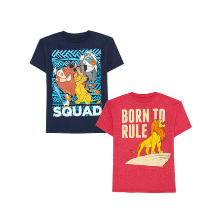 Disney The Lion King Licensed Graphic Bundle 2-Pack Tees (Little Boy & Big Boy)