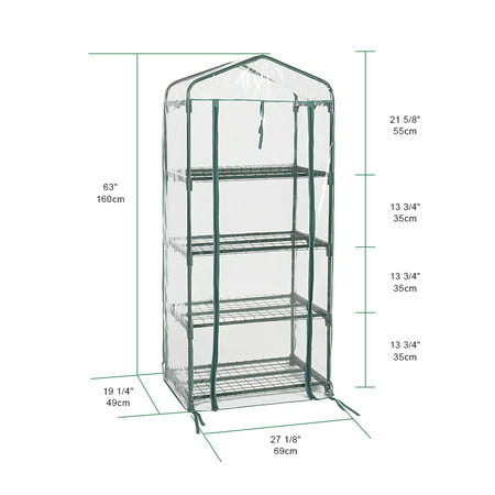 "4 Tier Greenhouse W/Clean Cover Winter Garden Plants Warm House - 27"" x 19"" x 63"" - image 6 of 6"