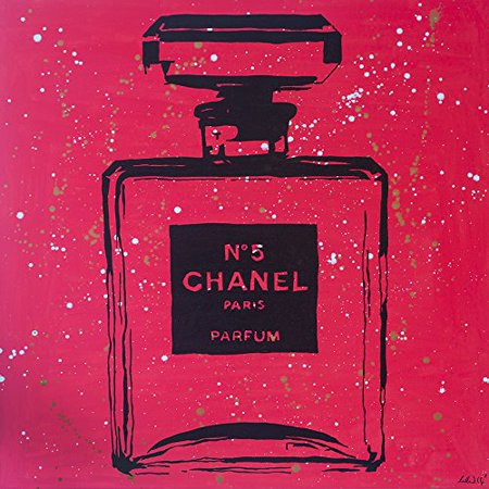 Chanel Rosey Red Urban Chic by PopArtQueen 12x12 Art Print Poster   Pop Art Chanel Color Splash Chanel Bottle Perfume Perfum Mademoiselle Infinite Glam Night Chanel No. 5 POD
