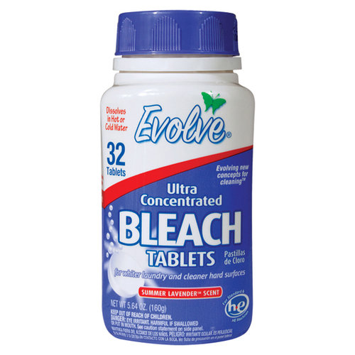 Evolve Summer Lavender Scent Ultra Concentrated Bleach Tablets, 32 count, 5.64 oz