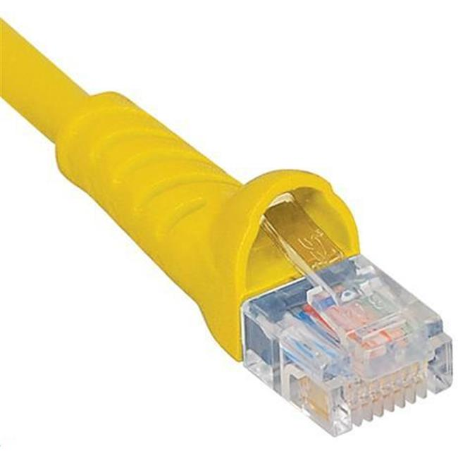 ICC ICPCSK05YL 5 ft. Ultra Slim Line Molded Boot Category 6 Patch Cord, Yellow