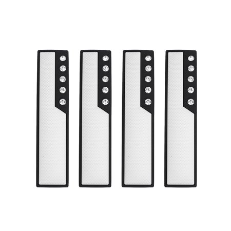 4pcs White Car Door Edge Guards Trim Molding Scratch Protector with Faux Diamond - image 1 of 4