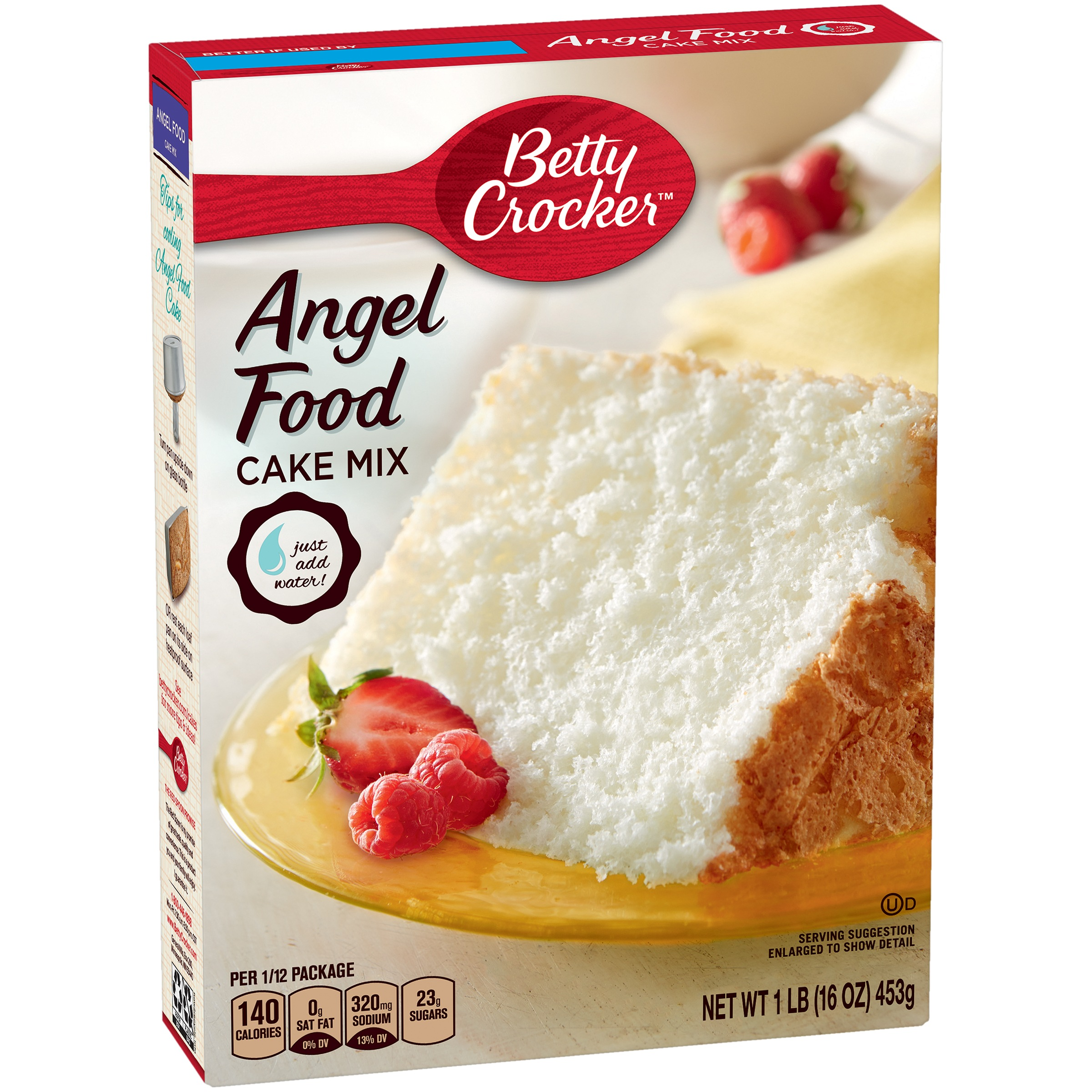 Betty Crocker Super Moist Fat Free Cake Mix Angel Food 16.0 oz Box by General Mills Sales, Inc.