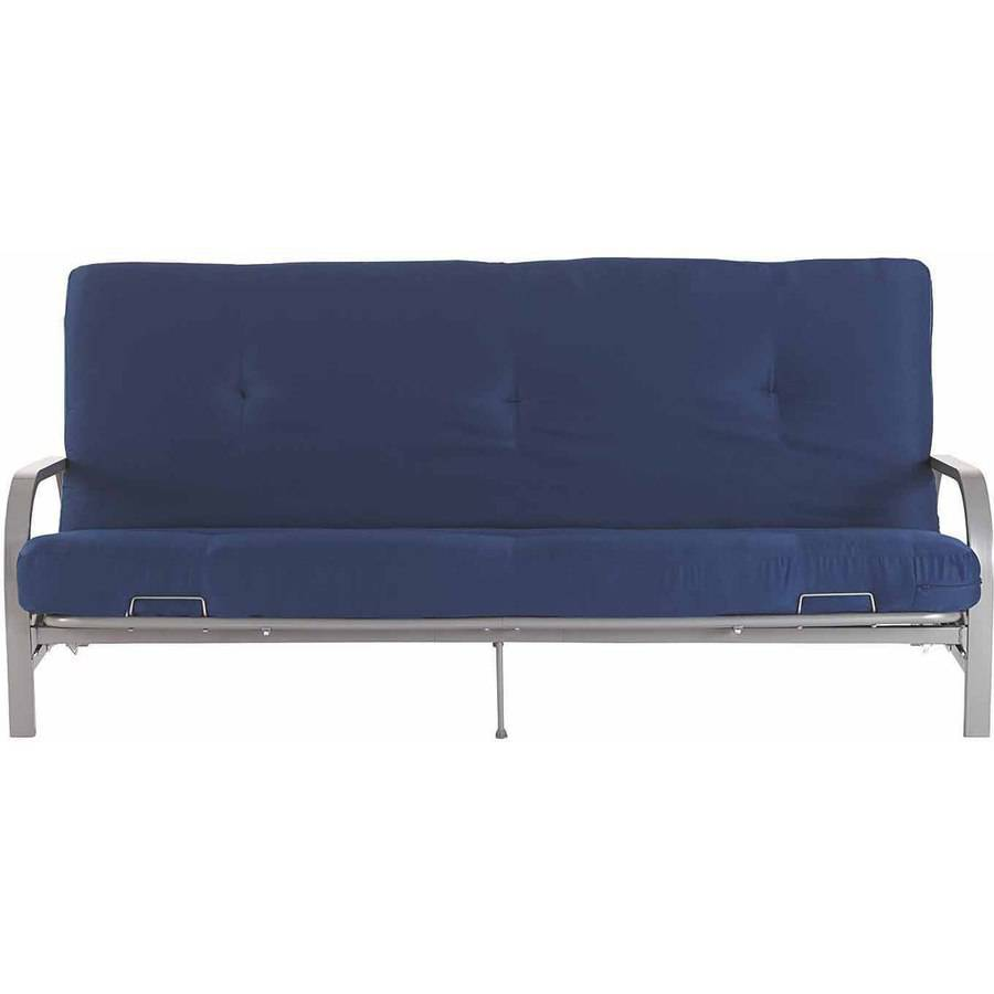 Silver Metal Arm Futon Frame W Full Size Mattress Gray Black Blue Red Sofa Bed Ebay