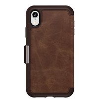 OtterBox Strada Series Protective Leather Folio Case With Vertical Slot For ID & Bank Cards For iPhone XR (ONLY), Espresso Non-Retail Packaging