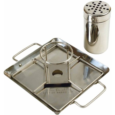 Steven Raichlen Best of Barbecue Beer Can Chicken Roaster Rack with Holder, Canister and Drip Pan, SR8016 (Chicken Roaster)