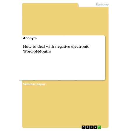 ative electronic Word-of-Mouth? - eBook (Electronic Deals)