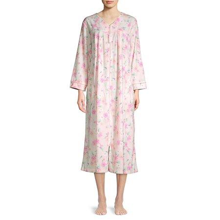 Floral Long Zip Robe