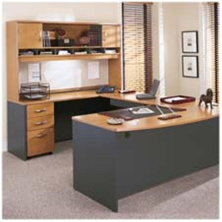Bush Industries BSHWC24414 Double Open Bookcase- 35-.63in.x15-.38in.x72-.88in.- DCY-Graphite