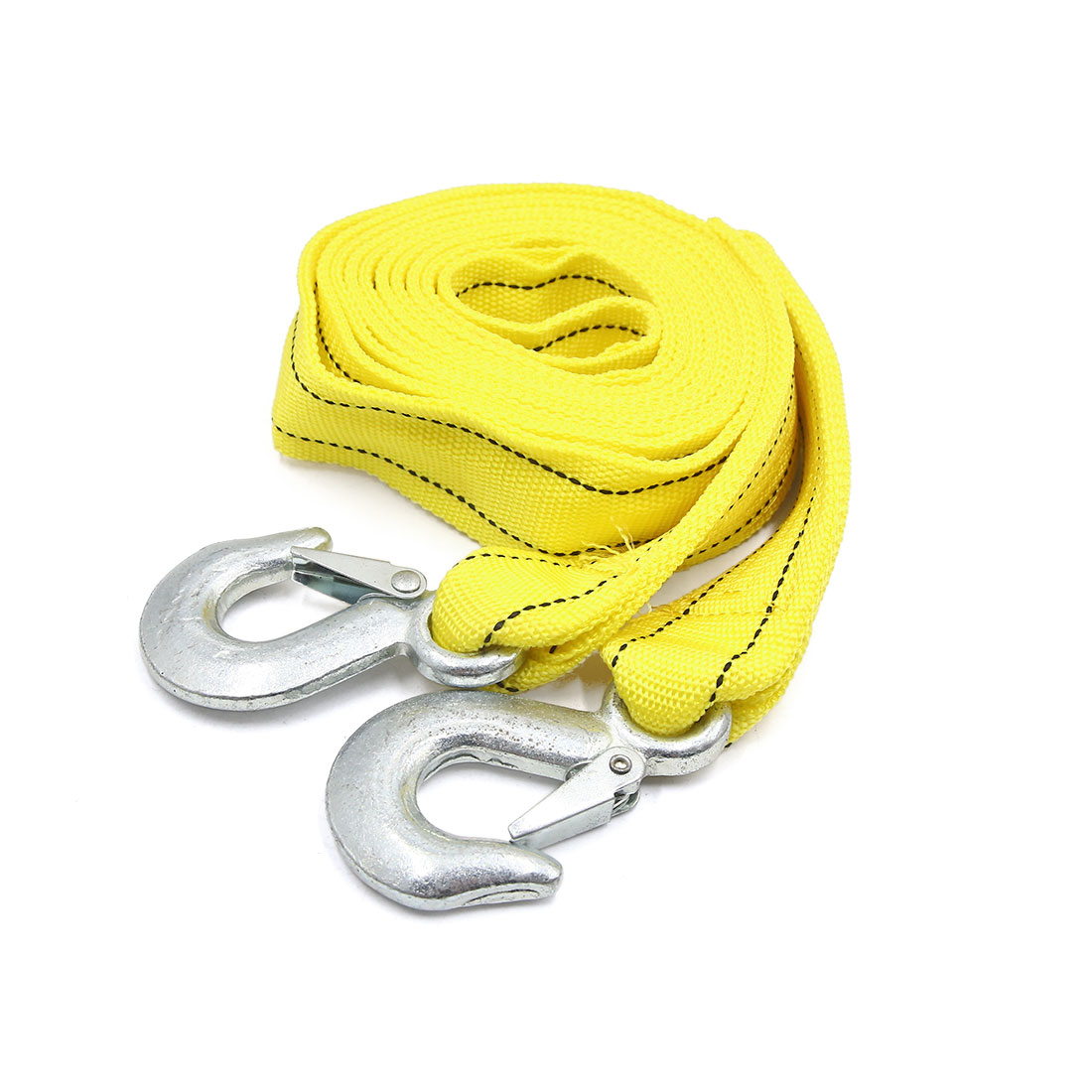 Nylon 5 Tons 11.8ft Length Dual Layer Car Auto Emergency Towing Strap Rope