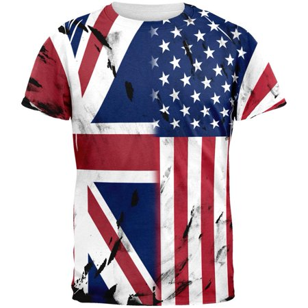 British UK American USA Flag All Over Mens T (American Clothing Websites That Ship To Uk)