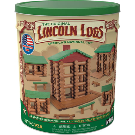LINCOLN LOGS -Collector's Edition Village Tin - 327 (Lincoln Logs Building Instructions)