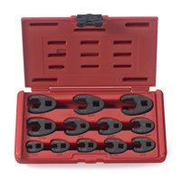 Neiko 03323A 3/8-inch and 1/2-inch drive SAE Crowfoot Wrench set, CR-MO, | 12 piece set