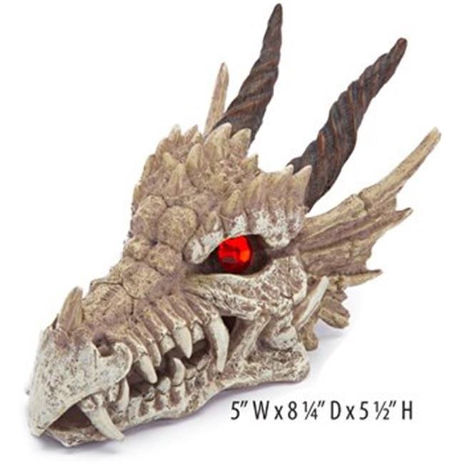 Dragon Skull-Gazer Aquarium Decoration Ornament 5 x 8.25 x 5.5 in.