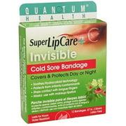 Quantum Super Lip Care Invisible Cold Sore Bandage 12 Ct, Pack of 2