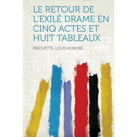 Le Retour de L'Exile Drame En Cinq Actes Et Huit - Lexile Level.com