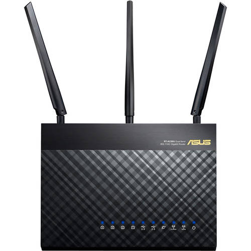 ASUS RT-AC68U 801.11a/b/g/n/ac 1300mbps Dual-Band Wireless-AC1900 Gigabit Router
