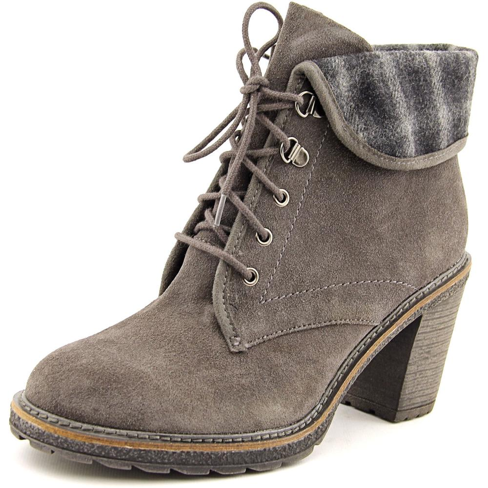 White Mountain JayJay Women  Round Toe Suede Gray Ankle Boot