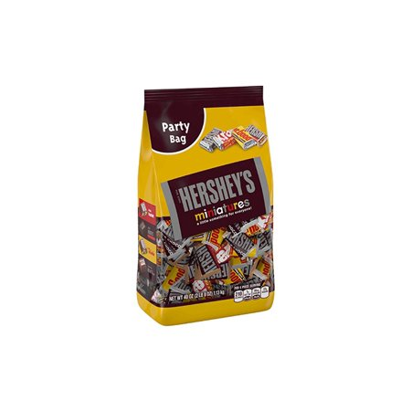 Hershey's Miniatures, Chocolate Candy Assortment, 40 Oz, 2 Pack