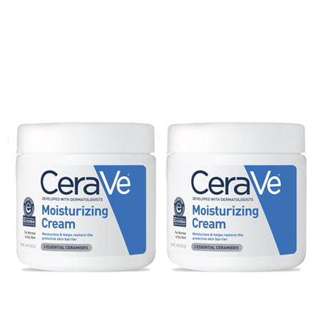 (2 Pack) CeraVe Moisturizing Cream, Face and Body Moisturizer, 16 oz.](Fake Body)