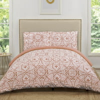 Truly Soft Marcello Coral Twin Extra Long Duvet Set