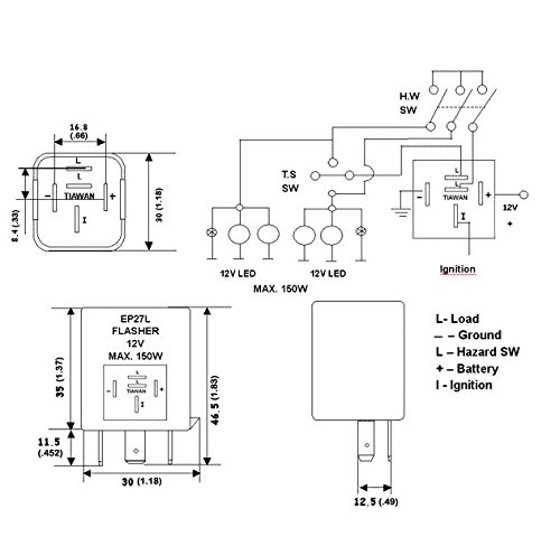 Flasher Wiring Diagram 5 Pin - Schematics Online on