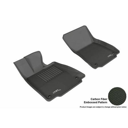 3D Maxpider 2014 2016 Lexus Is250 350 Front Row All Weather Floor Liners In Black With Carbon Fiber Look