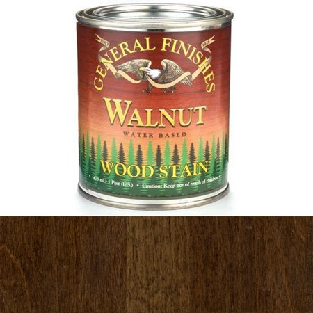 General Finishes Water Based Wood Walnut Stain, Pint