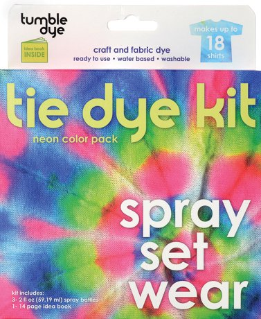 Tumble dye craft fabric tie dye kit 2oz 3 pkg neon for Sei crafts tumble dye