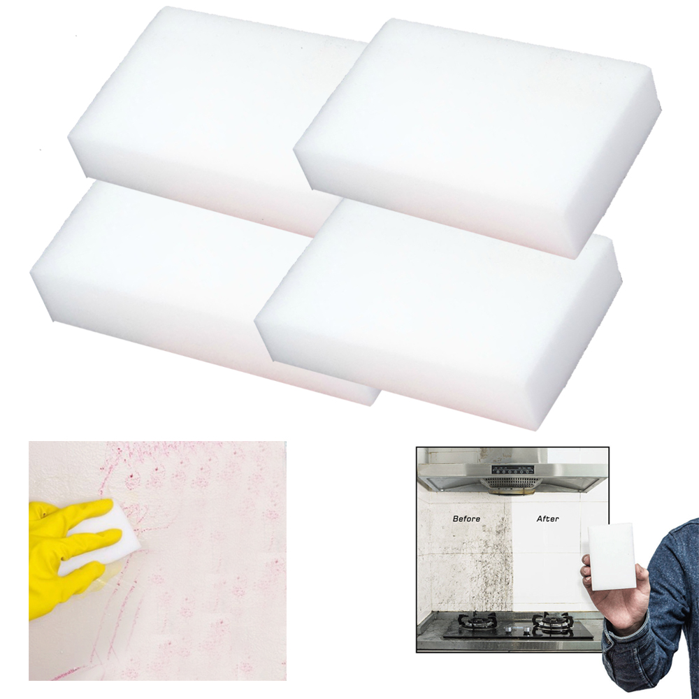 4X Magic Eraser Sponges Pads Multi Purpose Extra Power Cleaning Kitchen Bathroom