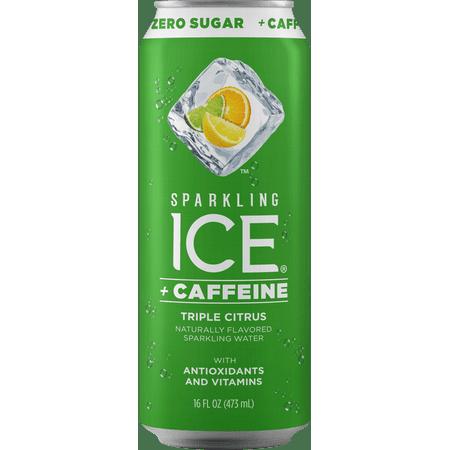 Sparkling Ice® + Caffeine Triple Citrus, 16 Fl Oz Can, 12 (Sparkling Cat)