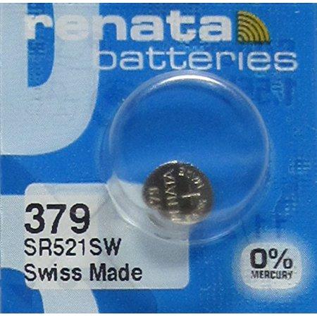 Renata 379 SR521SW AG0 LR521 D379 V379 CX521 618 Silver Oxide Mercury Free Electronic Battery x (Free Electronic)