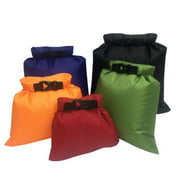 Waterproof Dry Bags,5 Pack Ultimate Dry Sack - 1.5L+2.5L+3.5L+4.5L+6L Lightweight, Roll Top Outdoor Dry Sacks for Kayaking Camping Hiking Traveling Boating Water Sports
