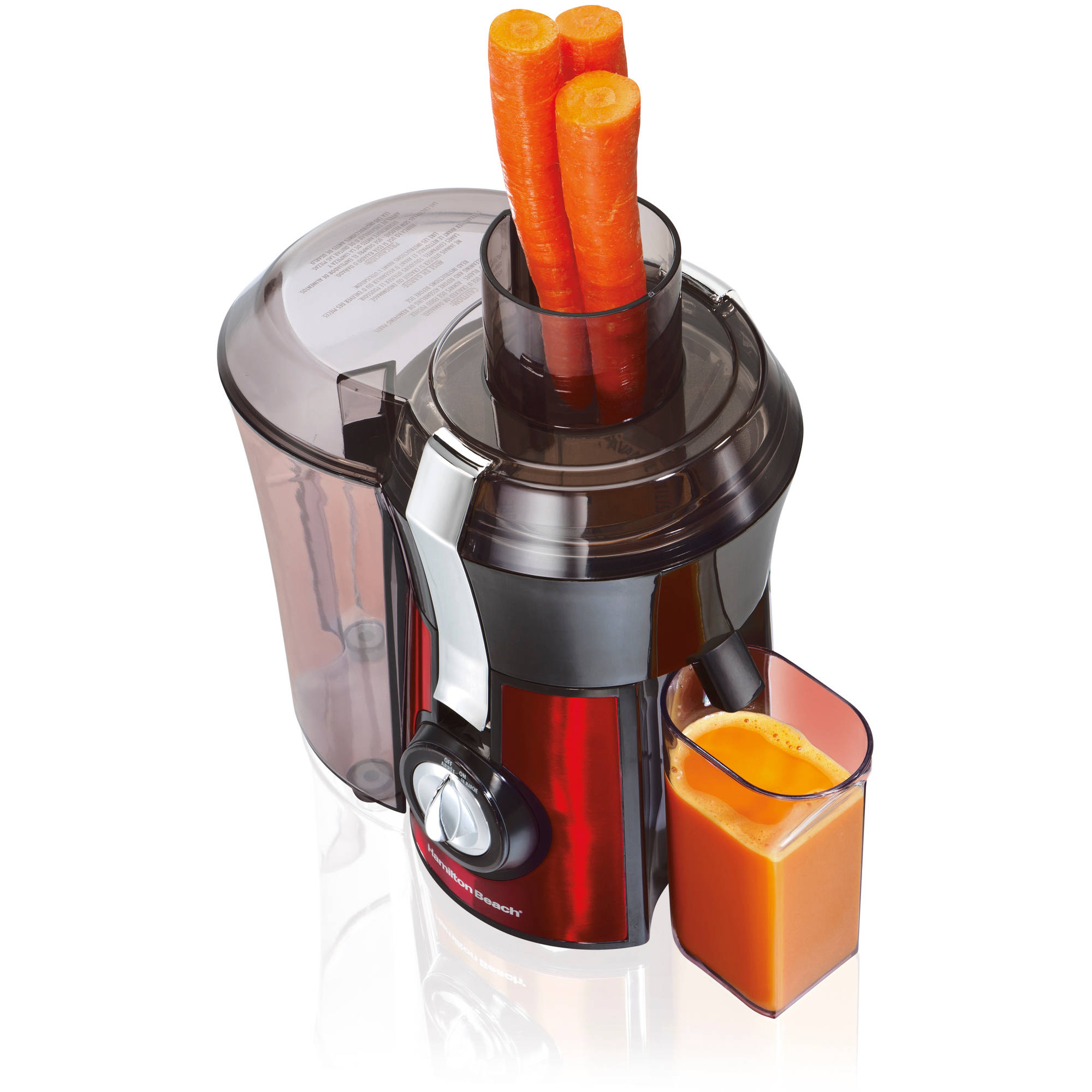 Hamilton Beach Big Mouth Juice Extractor, Red