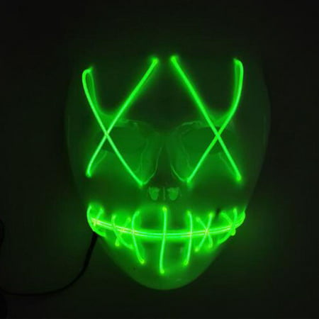 Tagital Halloween Mask LED Light Up Funny Masks The Purge Movie Scary Festival Costume - Couples Costume Ideas Funny
