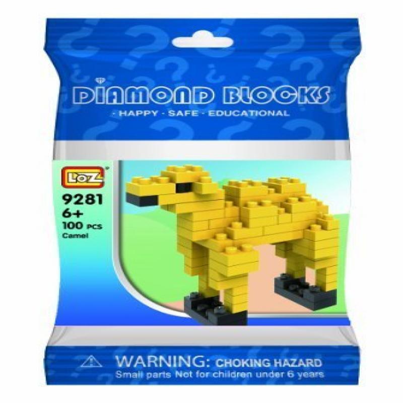 Loz Micro Blocks, Camel Model, Small Building Block Set, Nanoblock Compatible (80 pcs),... by