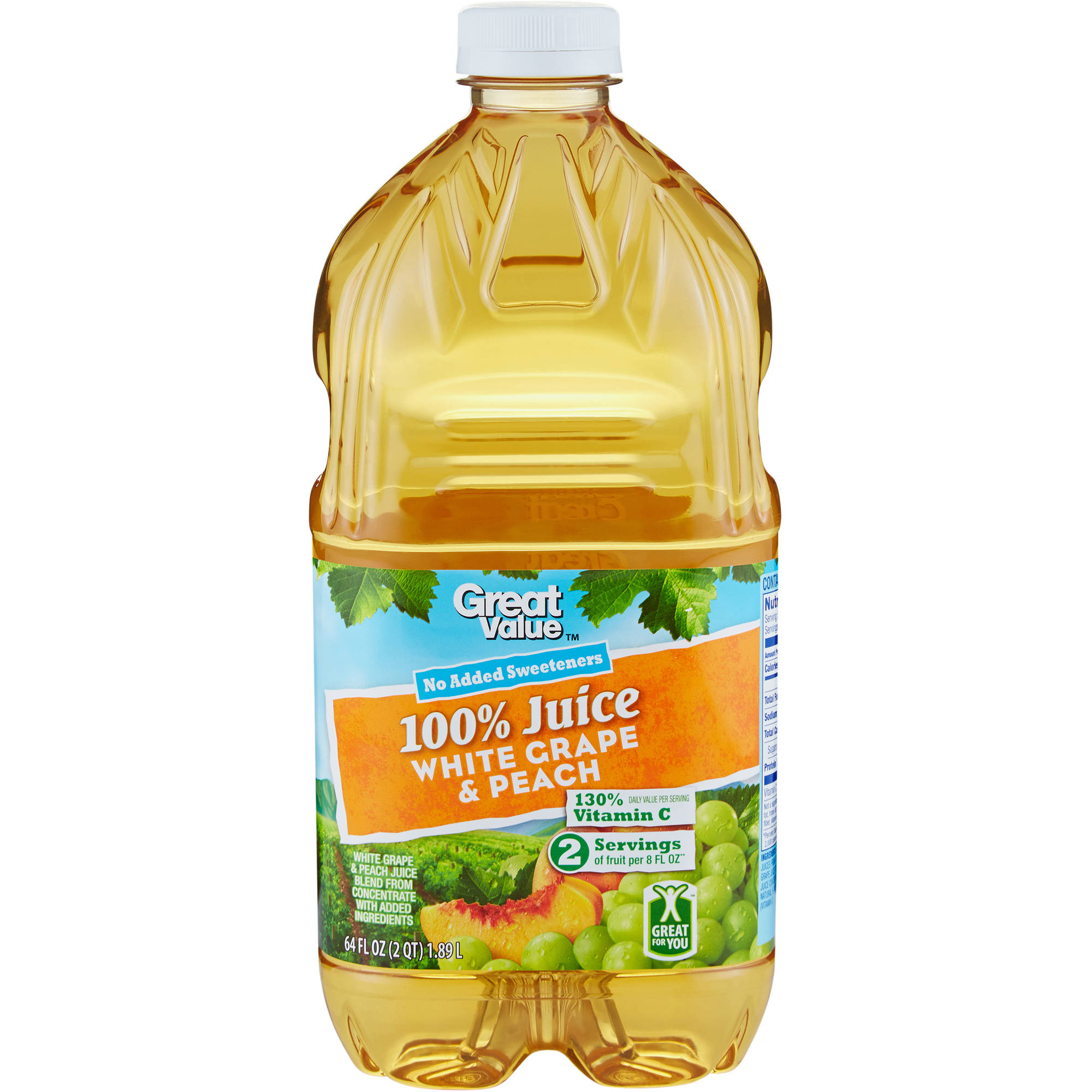 Great Value: 100% Grape Peach Juice, 64 Oz